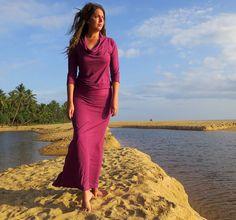 ORGANIC Vagabond Long Dress ( light hemp and organic cotton knit ) - organic…