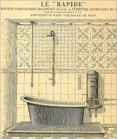 In het begin van de negentiende eeuw was de badkamer vaak een verlengde van de slaapkamer. In rijkere milieus was de wastobbe een heuse sofa met draperieen van stof, niet in de laatste plaats uit schaamte voor naaktheid. Deze tobbe werd in de loop van de negentiende eeuw meer en meer een zelfstandig meubelstuk. De eerste vrijstaande baden waren van koper.