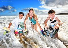 Gus Bald Tessa McNaulty and Jed Howden hit the beach after the Bells Bash fun run. #geelongadvertiser #funrun #bellsbash #janjuc #coolingoff #hot #runner #instarunners #instarunning #water_shots #finished #nikon #keepingcool #bellsbeach #instafitness #picoftheday #beach #beachlife #happy #shoesoftheday @tessamcnaulty #theecho #splash #waves #nikonphotography by nigel_hallett_pics http://ift.tt/1KnoFsa