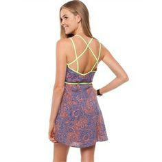 Ezra - Strappy Sun Dress Blue & Coral Paisley Print from Little Sale Birdy