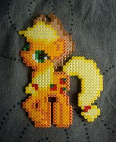 My Little Pony Friendship is Magic Applejack perler beads by Miyuka