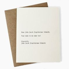 John Jacob Jingleheimer Schmidt  www.mooreaseal.com