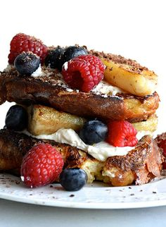 banana split french toast - made this on Saturday. So gluttonous but worth every bite