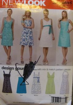 Simplicity 6885 Misses' Sundress Size 8 by SewYesterdayPatterns (Craft Supplies & Tools, Patterns & Tutorials, Sewing & Needlecraft, Sewing, commercial, supplies, simplicity, sewing pattern, craft supplies, misses women, sundress pattern, womens sundress, size 8 10 12 14 16, womens dress, dress pattern, sewing supplies, simplicity pattern)