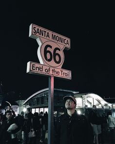 A sign at the end of the #SantaMonicaPier marks the end of the legendary American highway symbolizing that this road only ended when the sea stood in its way. from AtlasObscura.com