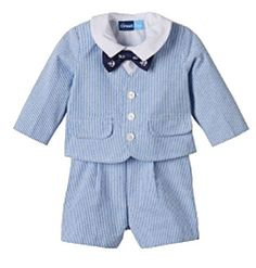 cf60de8f0c56 Give your baby boy nautical style that everyone will awe over with this  boys' Great Guy seersucker suit set.