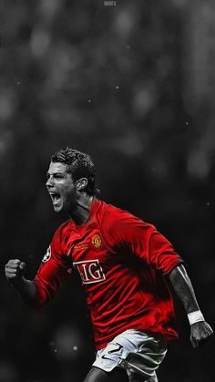 Cristiano Ronaldo of Man Utd wallpaper. Cristiano Ronaldo Junior, Cristiano Ronaldo Wallpapers, Cristiano Ronaldo Juventus, Cristiano Ronaldo Cr7, Cristino Ronaldo, Ronaldo Football, Gerad Pique, Cr7 Wallpapers, Manchester United Wallpaper