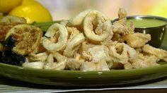 Mario Batali's Fried Calamari  with Lemon Aioli