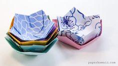 Origami Flower Bowl Tutorial