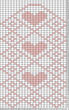 Tricksy Knitter Charts: Heart Mittens by TsiSanna