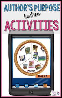 Technology activities for teaching author's purpose. Ideas for iPads and laptops.