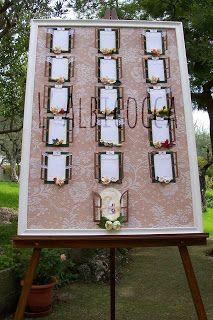 Tableau e Segnaposti per Cerimonia Nuziale - Matrimonio Tableau mariage