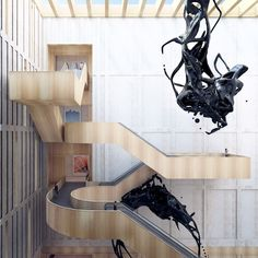 Longhua Art Museum And Library - Picture gallery #architecture #interiordesign #staircase