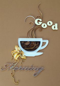 Quilled Treasures Neutral Collection By 3 Birds Quilling Strips 500 Strips of Paper. Learn the art of quilling. 500 pieces x strips. I Love Coffee, Coffee Break, My Coffee, Good Morning Coffee Cup, Coffee Van, Coffee Nook, Drink Coffee, Fresh Coffee, Deco Cafe