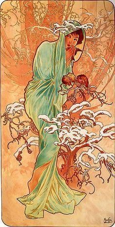 The Four Seasons -Winter-  Alfonse Mucha