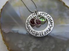 Personalized Mothers Necklace Mothers Day by XpressiveMpressions