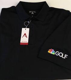 Antigua NBC Golf Men's Short Sleeve Polo Shirt Size Medium Black NEW NWT  #Antigua #PoloRugby