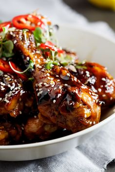Sweet sesame chicken.