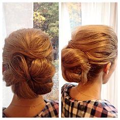 Low bun #weddingready #updo #bridesmaid