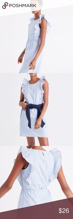 Madewell bellflower ruffle dress brand new size 12 ready to ship Madewell Dresses
