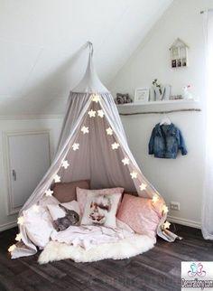 Cabana fofa para meninas (e meninos) que pode usada em festas do pijama de seus (suas) filhos (filhas) ou ate mesmo para a decoração de sua casa.