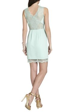 BCBGMAXAZRIA Maud Boatneck Dress With Lace Back | BCBG.com