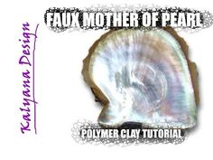 How to make a super-realistic oyster shell mother of pearl imitation, using Premo and Pardo clays. There are color recipes for both Premo and Pardo during th. Polymer Beads, Polymer Clay Art, Clay Beads, Polymer Clay Jewelry, Pearl Crafts, Clay Videos, Metal Clay Jewelry, Precious Metal Clay, Faux Stone
