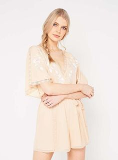 4a325bfea2f Miss Selfridge Peach Embroidered Playsuit Size UK 16 rrp 42 DH087 TT 13   fashion