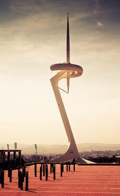 tower by santiago calatrava, barcelona #Architecture - ☮k☮