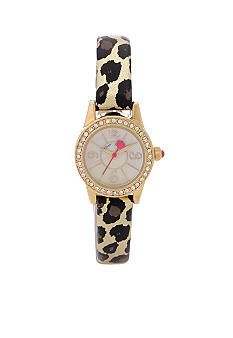 Betsey Johnson Miniature Size Case & Leopard Printed Strap Watch #belk #gifts #watches