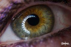 #green eye  #central heterochromia