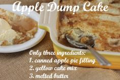 That's right! Just dump each ingredient one at a time, no mixing. Simple as that. Can't go wrong with this. Serve with a scoop of ice cream. You can also add 1 tsp. of cinnamon to the pie filling.