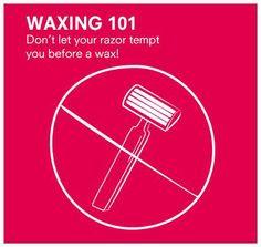 Put that razor down! You'll avoid irritation and ingrown hairs. - Waxing Tips 2020 Ingrown Hair Bump, Infected Ingrown Hair, Ingrown Hair Removal, Prevent Ingrown Hairs, Facial Waxing, Body Waxing, Assymetrical Hair, Wax Center, Waxing Tips