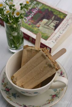 """Super recipe for Earl Grey, Cardamom and Pistachio popsicles, but you have to scroll through a sort of cutesy post about a mystery book """"Death by Darjeeling"""" to get to it. I get a bit cutesy when I blather about books I'm reading too, so I can relate. Seriously, scroll to the recipe, it's definitely worth it! And the book sounds good too!"""