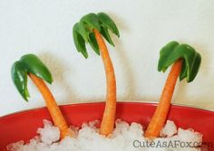 Carrot Palm Tree with Green Peppers
