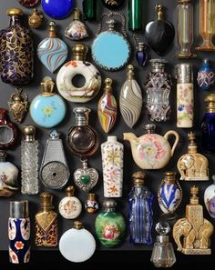 Vintage and antique perfume bottles. Perfumes Vintage, Antique Perfume Bottles, Vintage Perfume Bottles, Bottles And Jars, Glass Bottles, Magic Bottles, Apothecary Bottles, Objets Antiques, Old Antiques