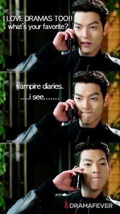 "Love the face...lol. Kim Woo Bin from ""Heirs"".. but I like vampire dairies too :D"