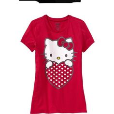 Old Navy Womens Hello Kitty Heart Tees ($14) ❤ liked on Polyvore