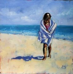 Debbie Miller Painting: children at the beach