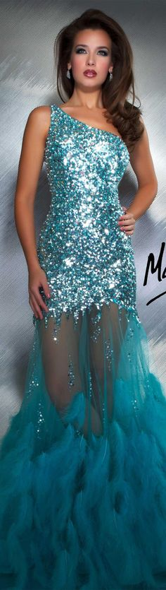 Mac Duggal couture dress aqua, not really a costume but i love this dress
