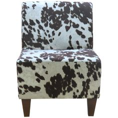 Found it at Wayfair - Penelope Armless Cowhide Brown Slipper Chair