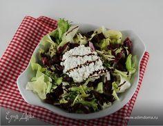 Салат с красной фасолью и творожным сыром