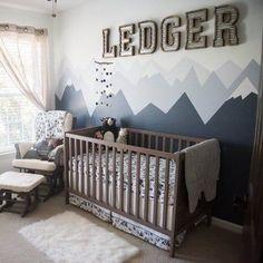 Baby Nursery Decor, Baby Bedroom, Baby Boy Rooms, Baby Boy Nurseries, Nursery Room, Project Nursery, Budget Nursery, Gray Nursery Boy, Rustic Nursery Boy
