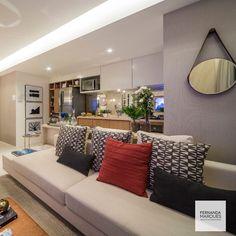 Salas de estar integradas com a cozinha , uma ótima solução para a vida moderna : enquanto prepara pratos deliciosos você interage com sua família e amigos.