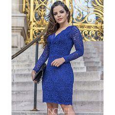 5ffa0f9c5 85 melhores imagens de Vestidos de renda azul marinho em 2019 | Cute ...