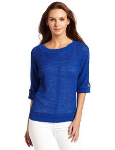 Jones New York Women's Petite Short Sleeve Boat Neck Sweater, Freshblue, Petite Jones New York. $89.00. Hand Wash. 54% Linen/24% Cotton/22% Rayon. Light weight sweater. Made in China. Roll tab sleeves