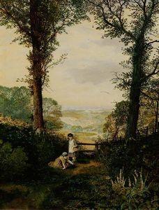 Une vallée Burnsall - (John Atkinson Grimshaw)