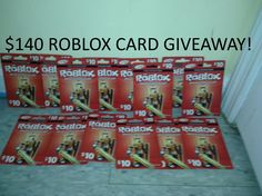 (MASSIVE GIVEAWAY) $140 DOLLAR ROBLOX GIFT CARD GIVEAWAY! (READ DESC 4 I...
