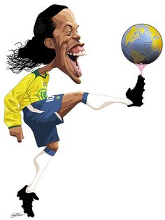 interview with Edoardo Baptistao-Brazil/By irancartoon Soccer Art, Football Art, Funny Caricatures, Celebrity Caricatures, Realistic Cartoons, Cinema Tv, Caricature Drawing, Cartoon Faces, Sports Figures