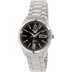 Seiko Men's 5 Automatic SNKM57K Silver Stainless-Steel Automatic Watch